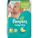 Pampers Baby Dry 4 +  9-20 kg